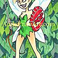 Tinkerbell Sketch Card