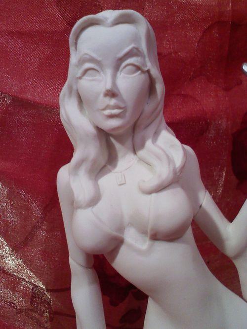 Morticia Addams resin kit - close view